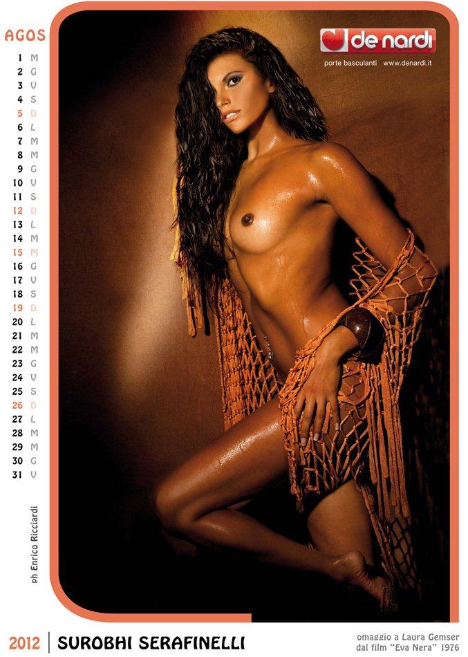 Календарь на 2012 год De Nardi - Sexy Italia 1970s - модель Surobhi Serafinelli / использован образ актрисы Laura Gemser