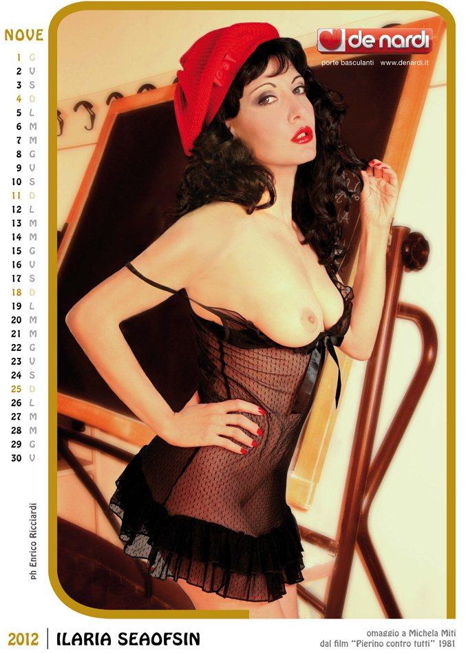 Календарь на 2012 год De Nardi - Sexy Italia 1970s - модель Ilaria Seaofsin / использован образ актрисы Michela Miti
