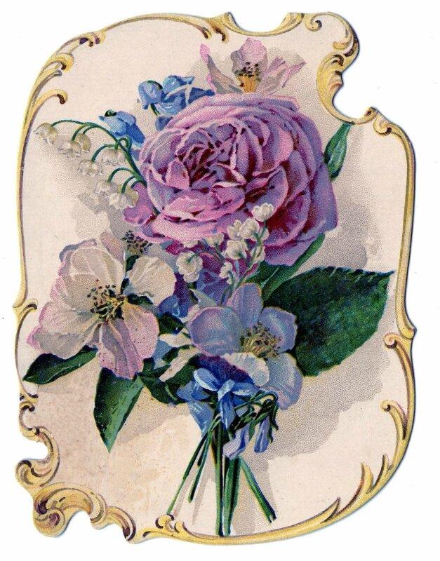 Ретро картинки для декупажа цветы 1