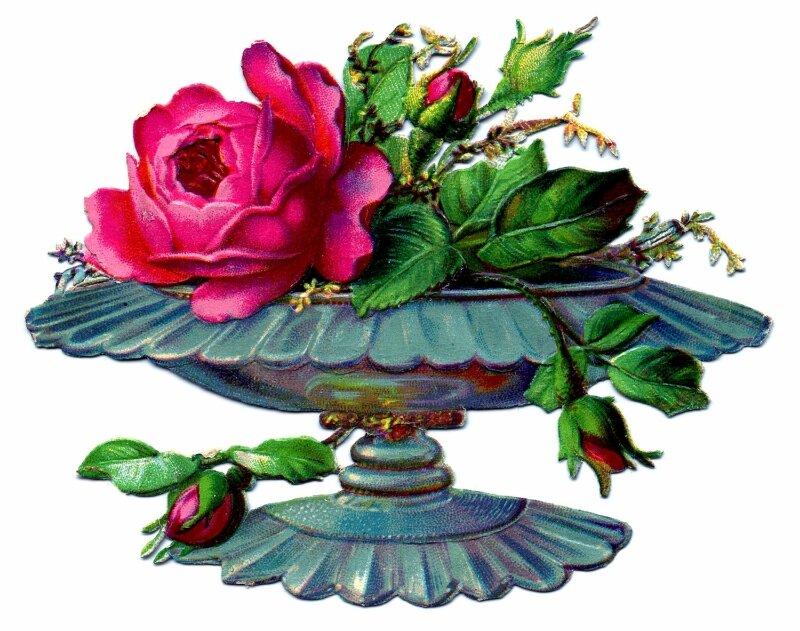Ретро картинки для декупажа цветы 2