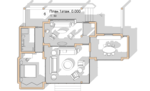 план проект сблокированного модульного дачного жилого дома с остекленной террасой Комфорт домашней обстановки, концепция интерьера дачного коттеджа, минимализм отражение необходимого комфорта и достатка.