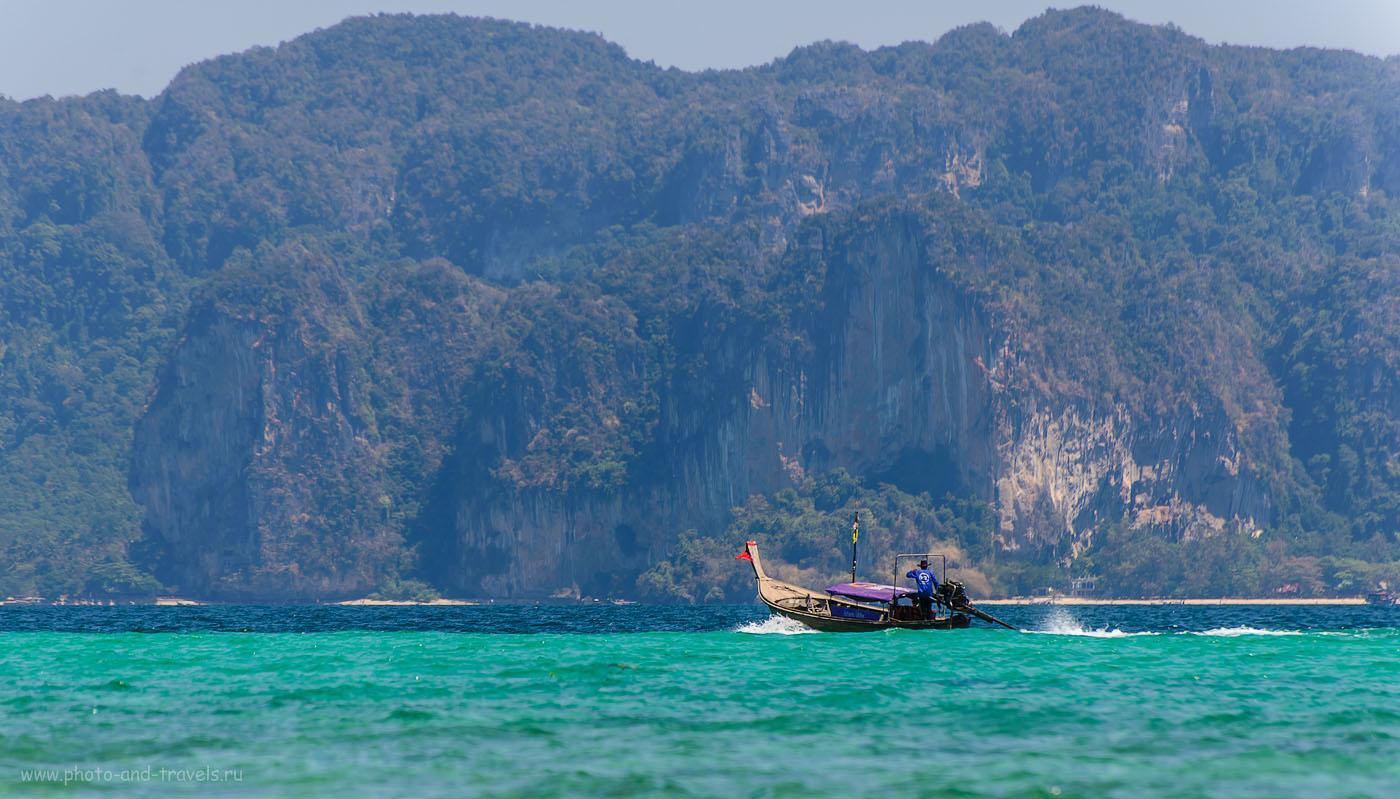 Фото 15. Скалы пляжа Рейли в провинции Краби. Вид с отсрова Пода. Отчет об отдыхе в Таиланде (100, 270, 5.6, 1/320)