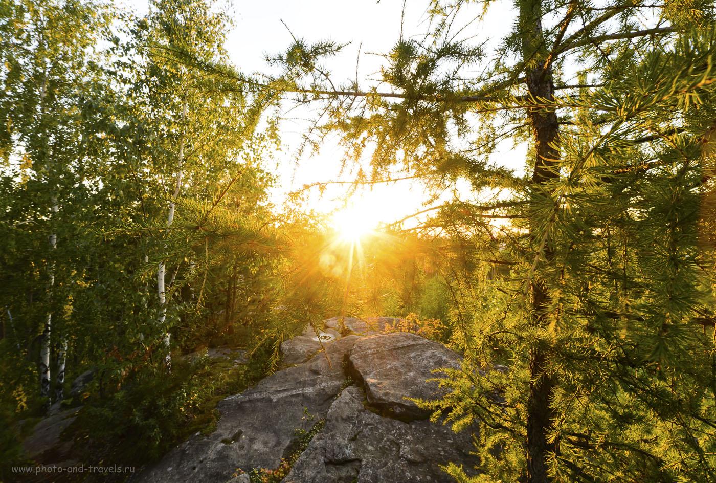 5. Ждем красивый закат на скалах Петра Гронского. Пешие походы в Свердловской области