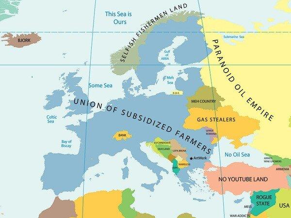 Просто аля-политическая карта