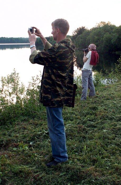 Андрей и Варя на Лозском озере