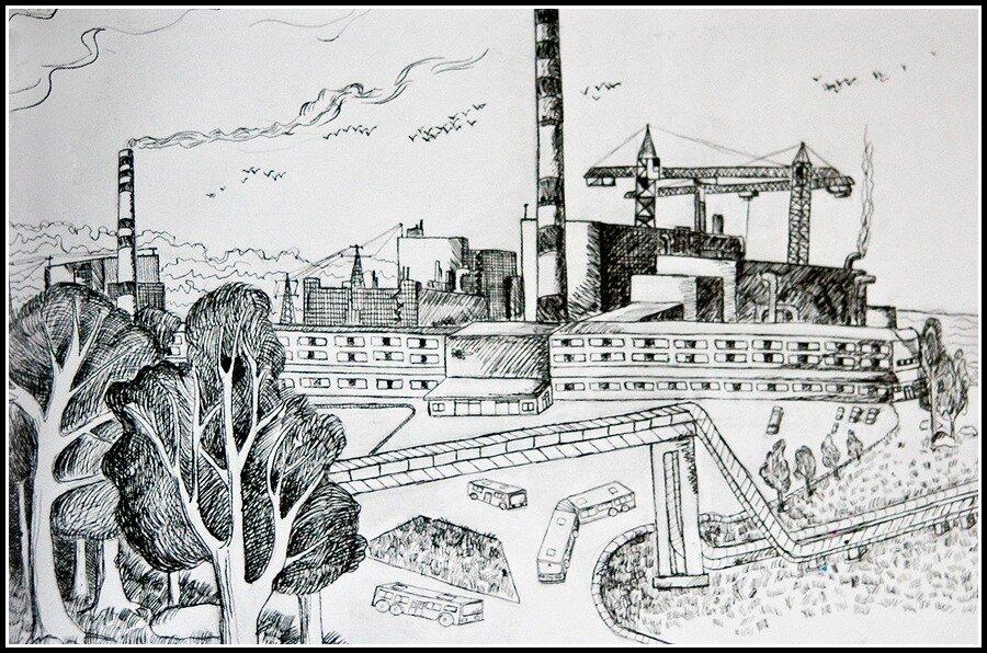 атомная электростанция картинки раскраски получилось парень оценил