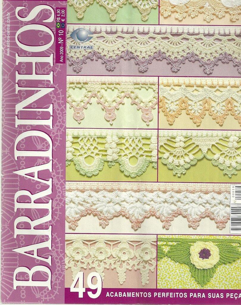 crochet border: barradinhos