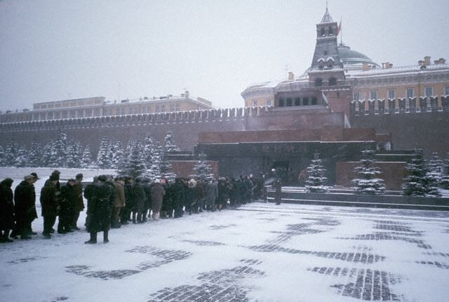 Visitors Queue to Enter the Lenin Mausoleum
