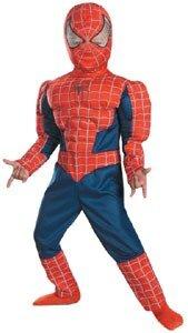 Костюм с мускулами человек-паук на 3-4 года, включает комбинезон, маску...