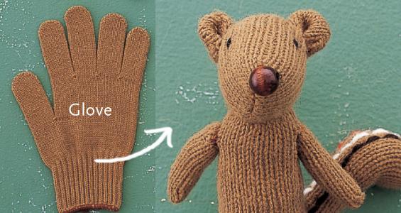 игрушка из перчатки