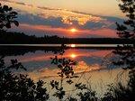 Закат на озере Щучье, Марий Эл