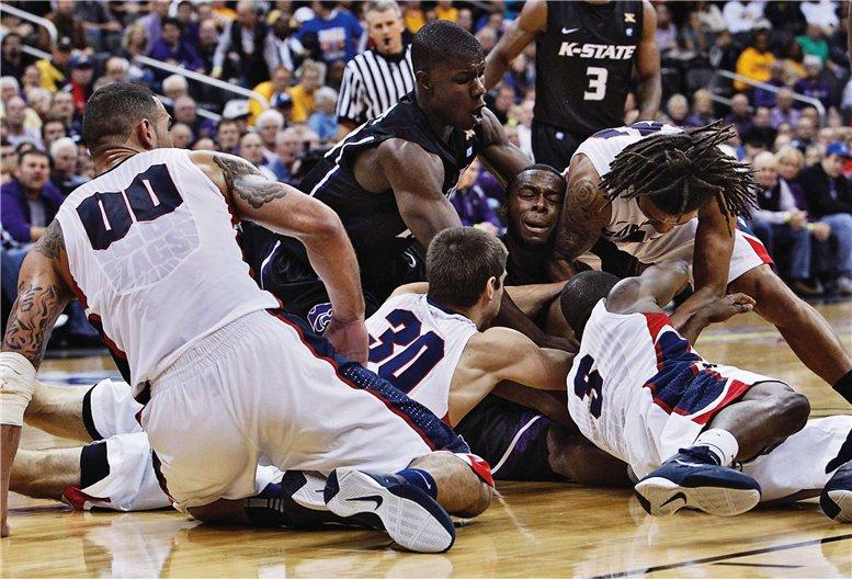 Gonzaga Bulldogs vs Kansas State, фотограф Jeff Moffett