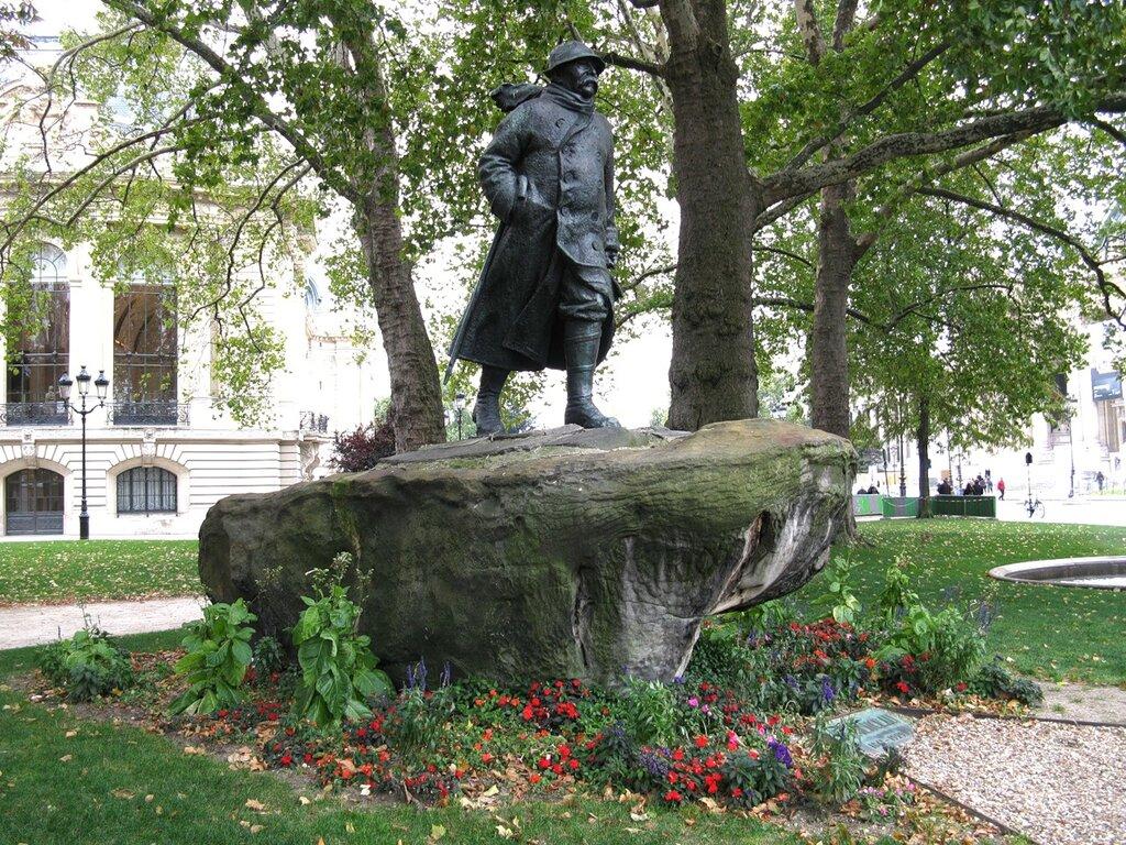 Памятник Клемансо (Statue Clemenceau), Париж