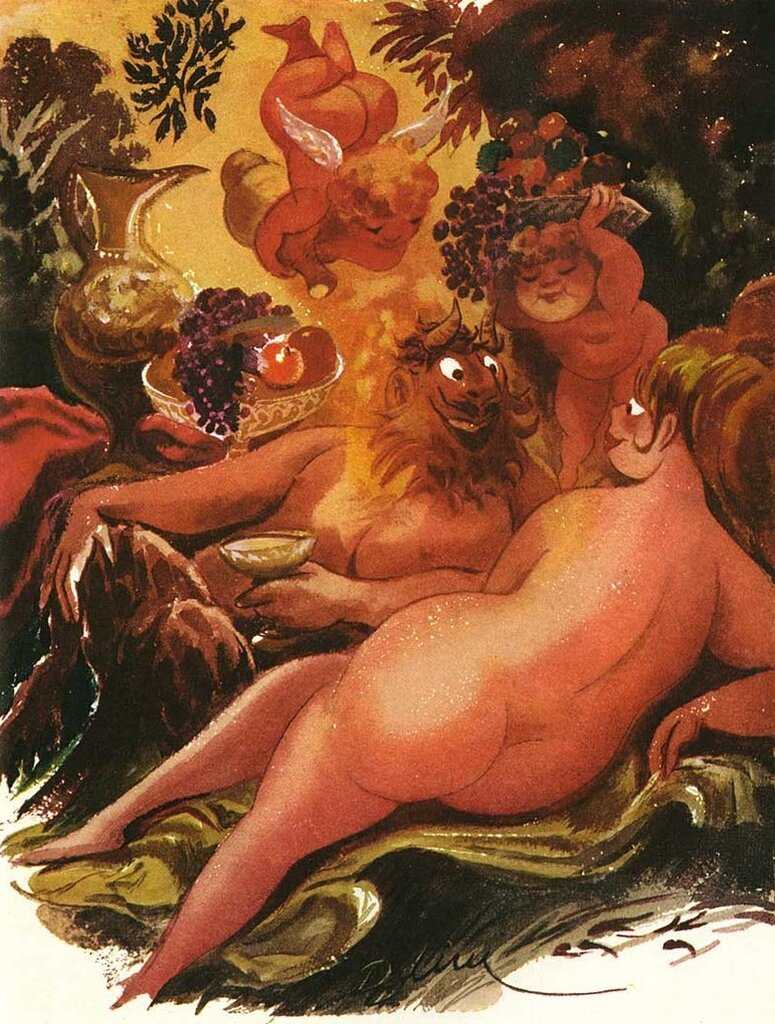 Playboy cartoon Eldon Dedini (1921-2006)
