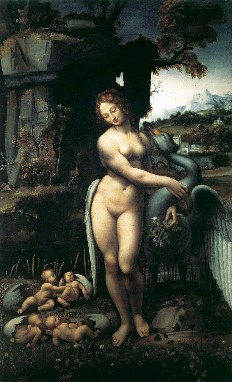 Leda_and_the_Swan_1508-1515.Флорентийская копия с утраченного полотна Леонардо