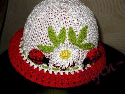 Фотографии в. шляпка для девочки крючком для начинающих.