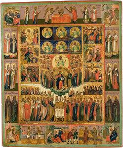 Шестоднев с избранными святыми Неделя всех святых