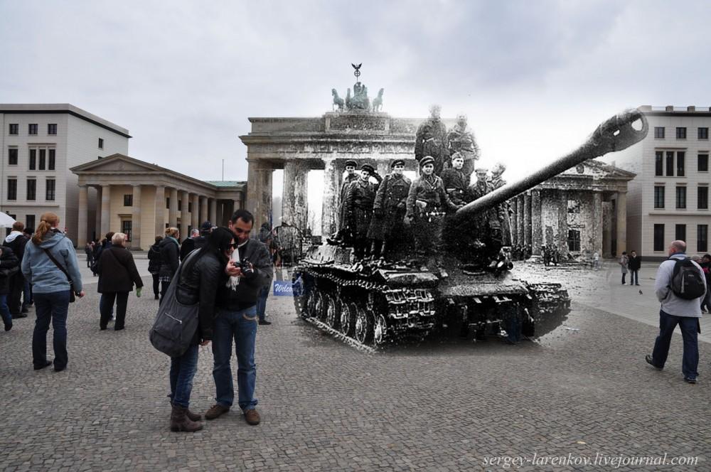 36 Берлин 1945-2010. Танк на Паризер платц..jpg