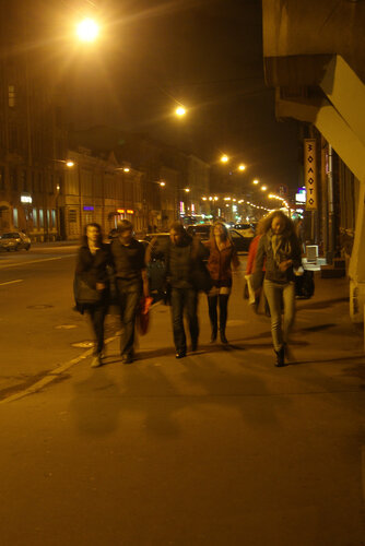 Ночь... Невский...