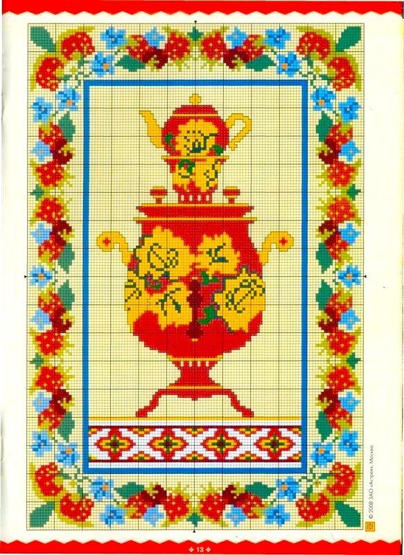 Набор для вышивания крестом «Самовар» (1145) Жанровые 77