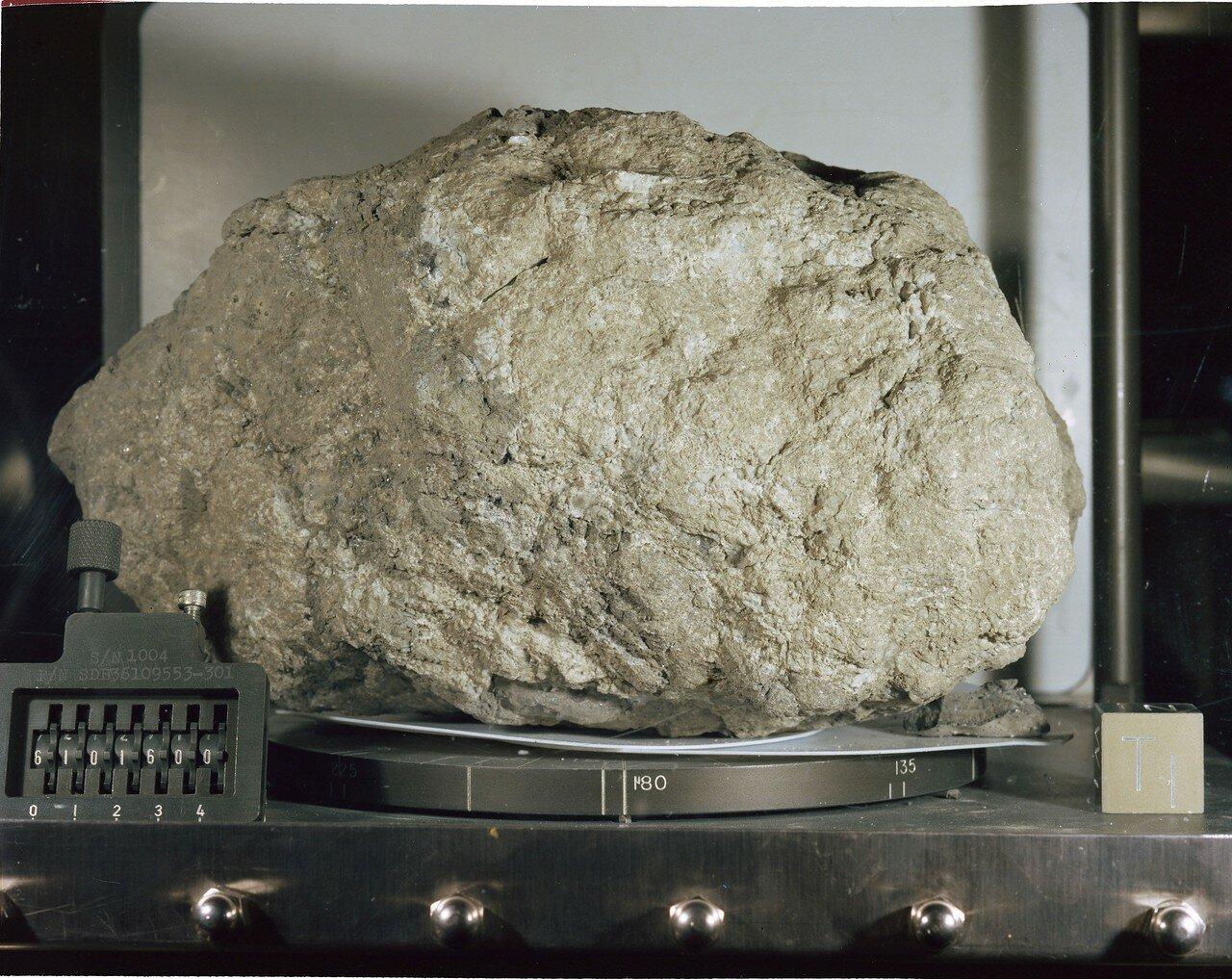 «Большой Мюли», массой 11,7 кг, превзошёл «Великого Скотта» (9,6 кг), подобранного командиром «Аполлона-15». Он стал самым массивным камнем из всех, доставленных с Луны «Аполлонами»