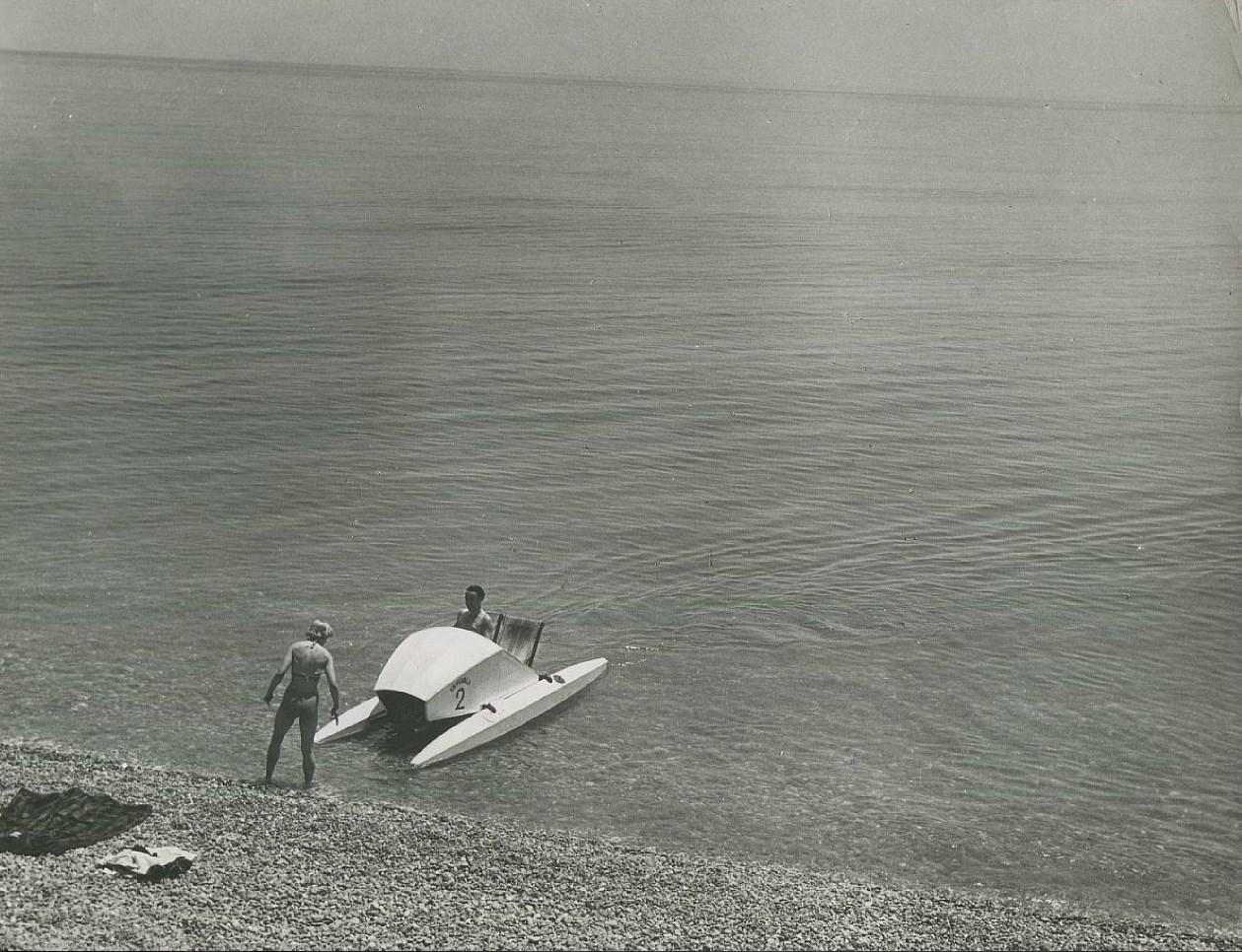 Пикап на пляже при помощи катамарана. Часть 2
