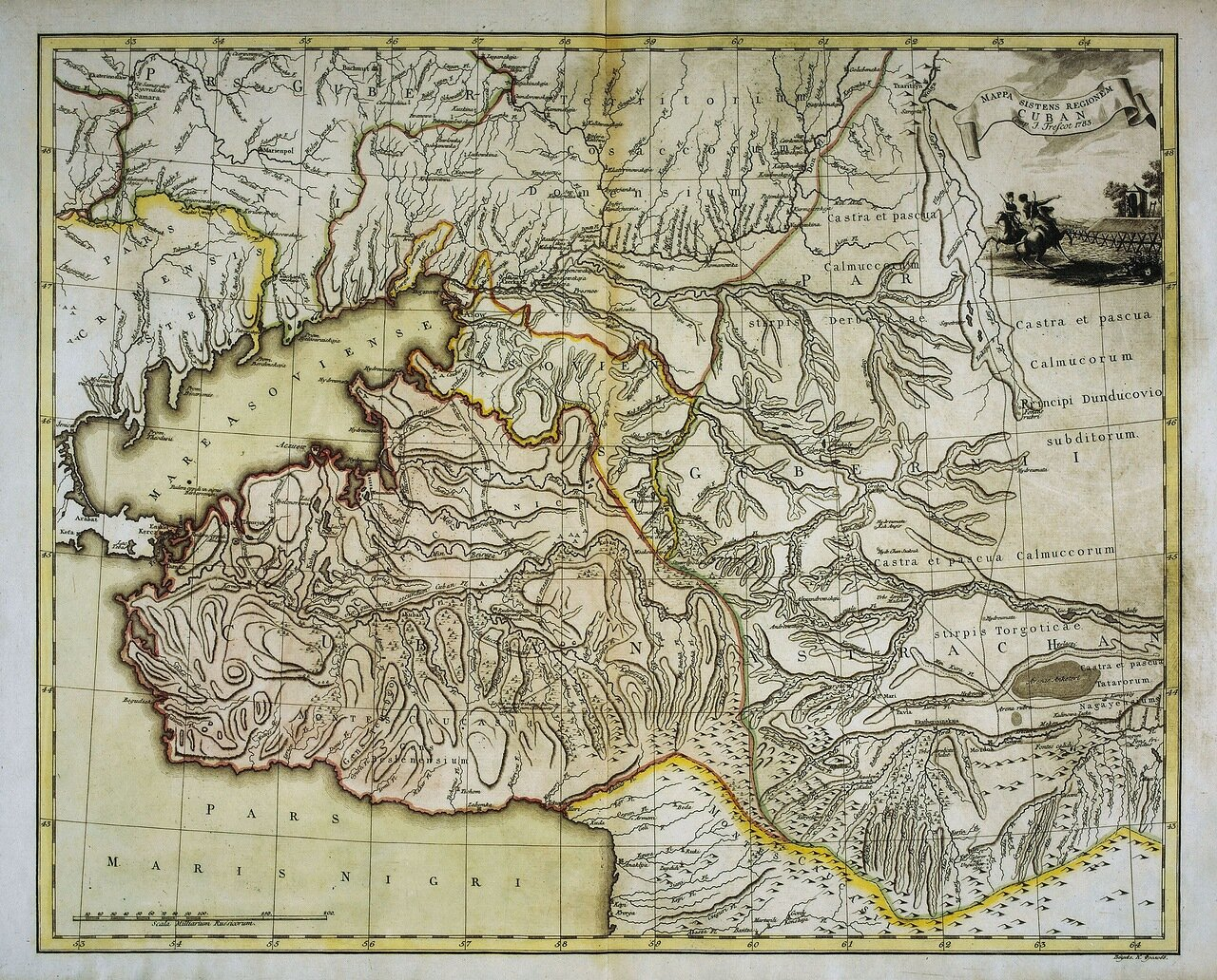 1783. Карта Кубанской области