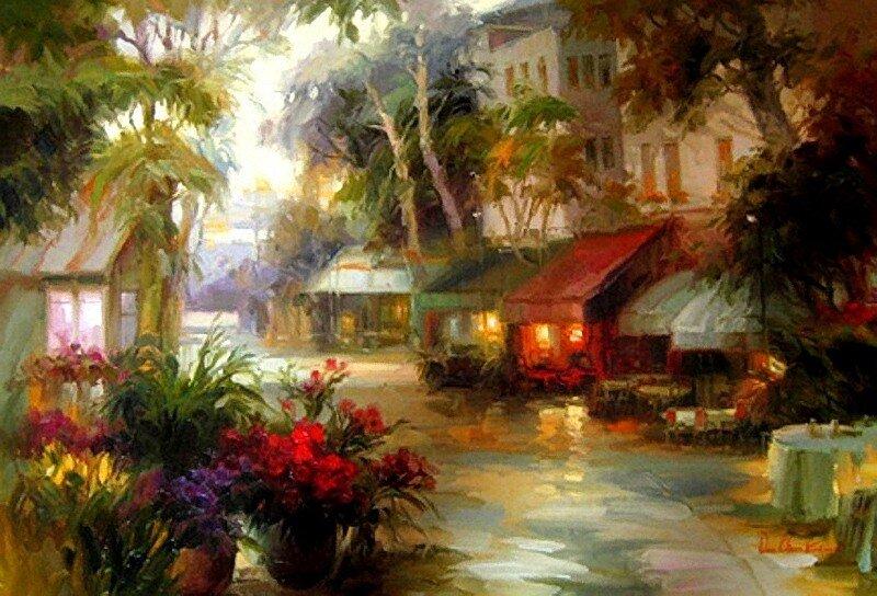 Дей Чун Ким.Городской пейзаж.