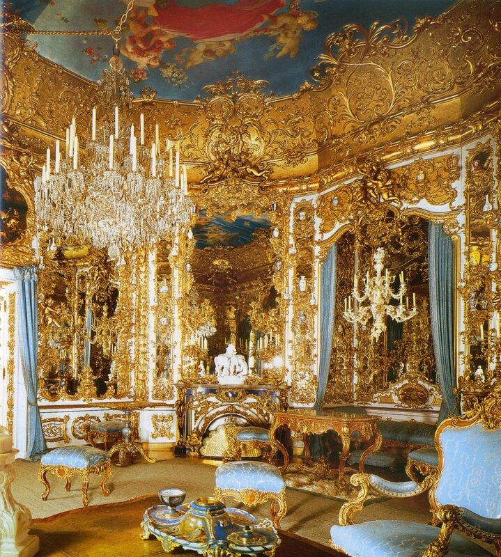 Зеркальный зал. Во дворце Линдерхоф