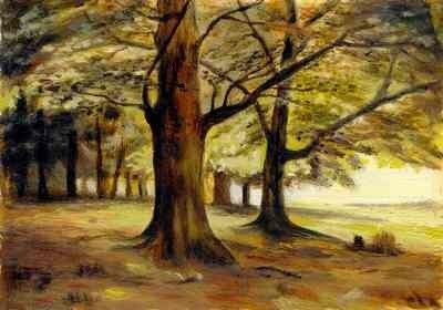Донской А.Н. Тевтобургский лес (копия с И.Шишкина), 1999, к.,м., 10х15