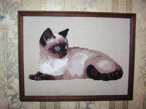 """«""""Тайская кошка"""" вышивка"""