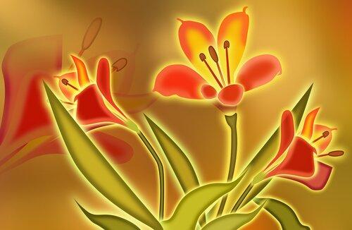 Музыка и Живопись. Семь цветов. Оранжевый