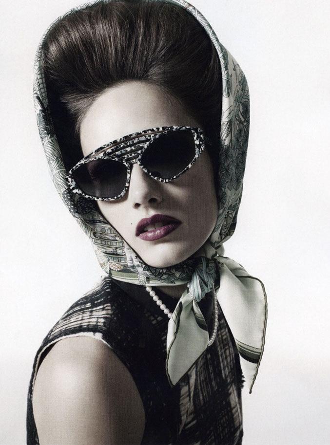 модель Кармен Педару / Karmen Pedaru, фотограф Richard Bush