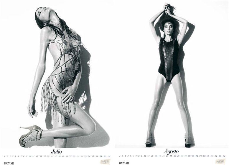 Шейла Маркес / Sheila Marquez by Nico in Harper-s Bazaar Spain 2011 calendar - июль-август