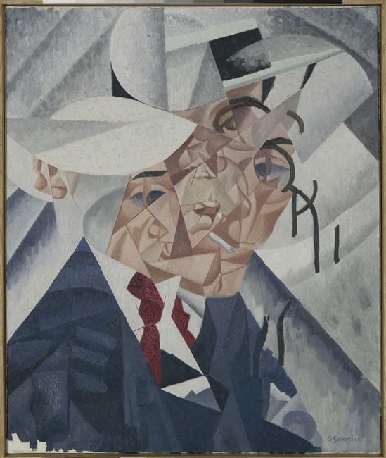 Дж. Северини Автопортрет.Autoportrait Gino Severini
