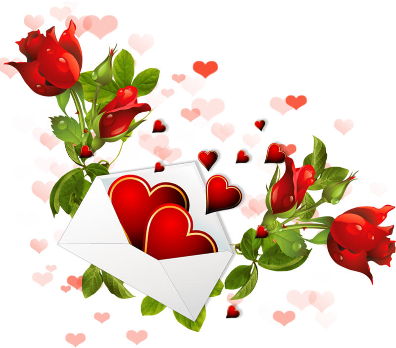 Enveloppes coeurs fleurs - Coeur avec des fleurs ...