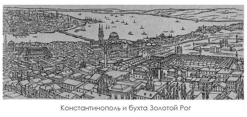Константинополь и бухта Золотой Рог, панорама