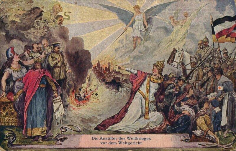 Немецкие открытки против Антанты времен Первой мировой
