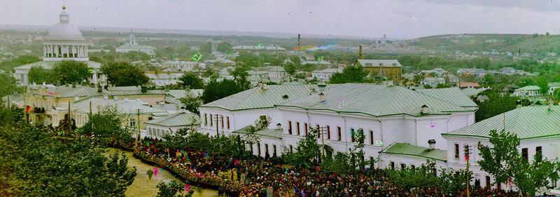 Белгород, Панорамный вид на левую сторону Соборной улицы, фото Прокудин-Горский 1911 г. http://sanchess-city31.livejournal.com/