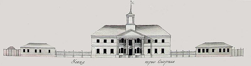 Белгород, чертёж фасада семинарии 1808 г. http://sanchess-city31.livejournal.com/