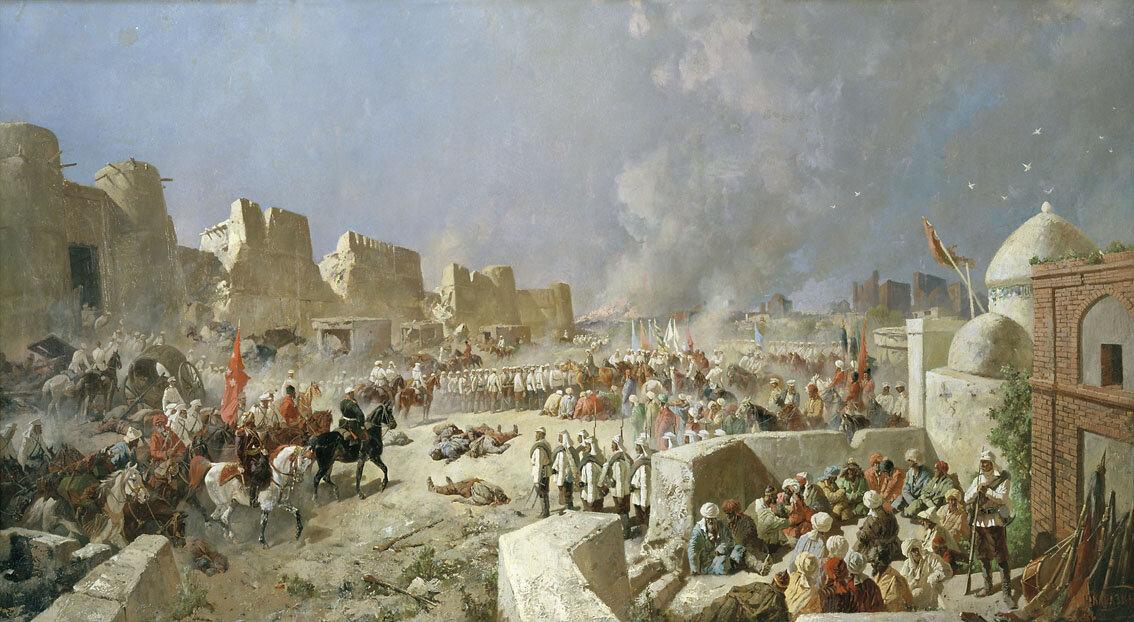 Николай Николаевич Каразин. Вступление русских войск в Самарканд 8 июня 1868 года. 1888