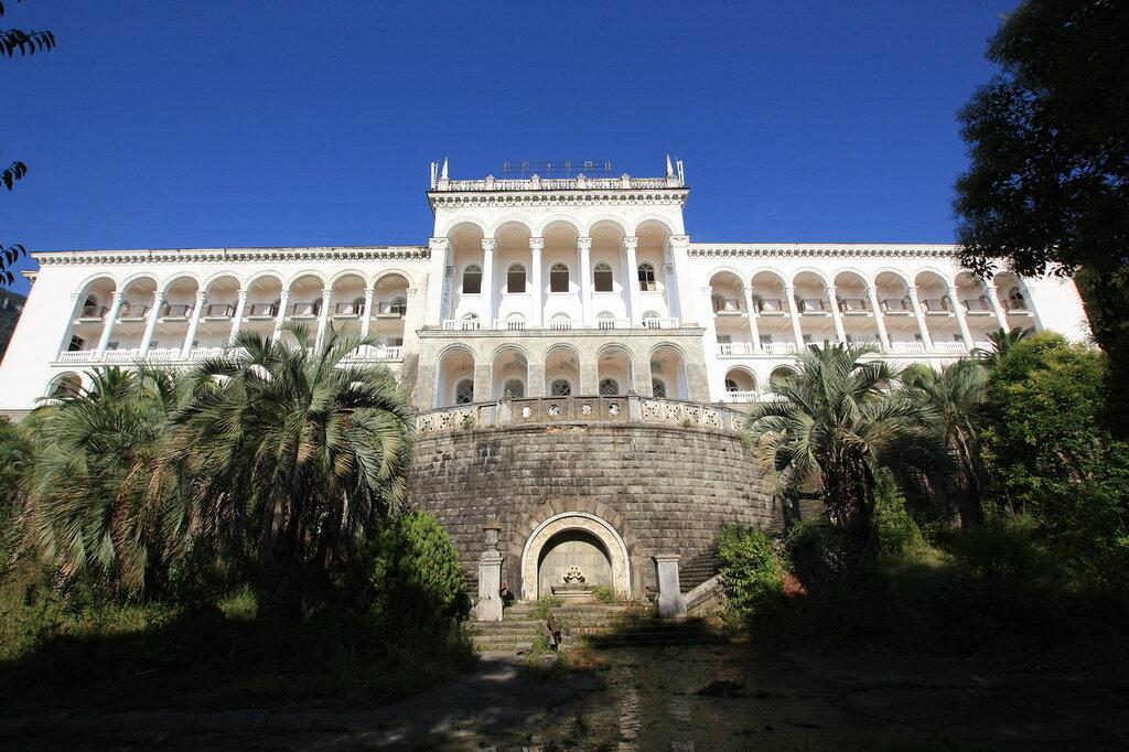 Das imposante Gebäude des ehemaligen Sanatoriums