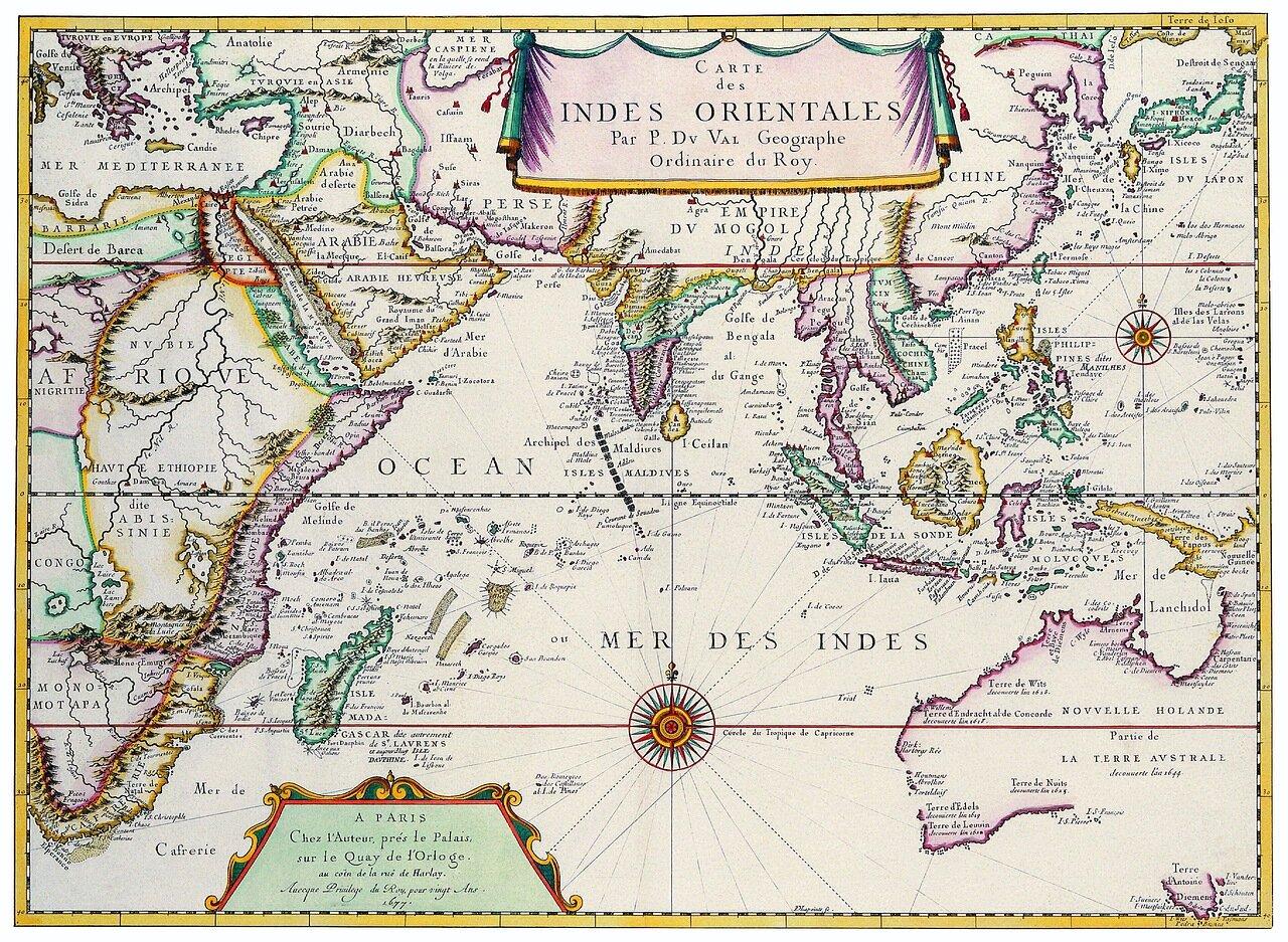 1677. Карта Восточной Индии