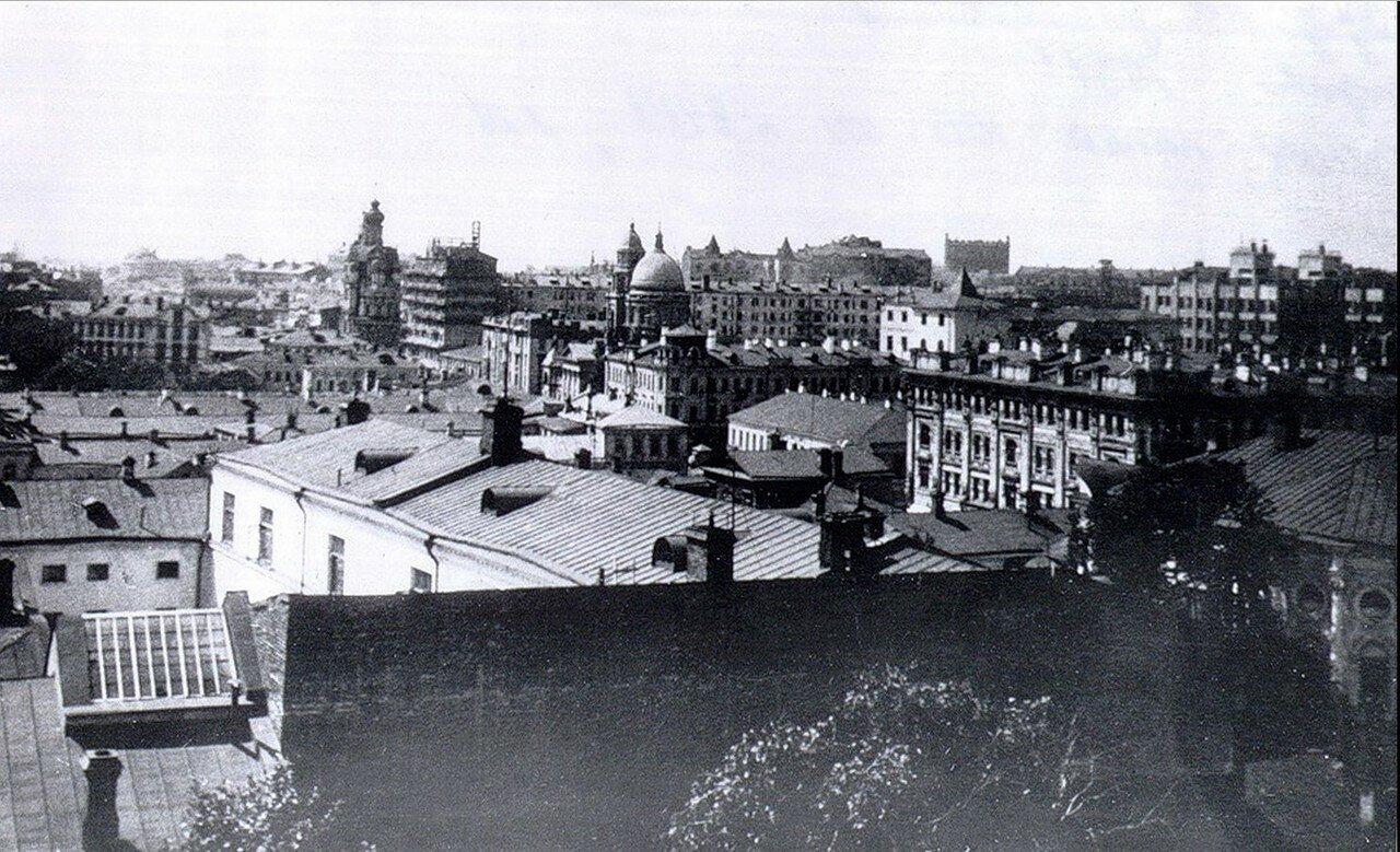 1930-е. Покровка, вид с колокольни церкви в Барашах