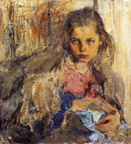 Портрет Катеньки. 1912г.Фешин Ник.Ив.