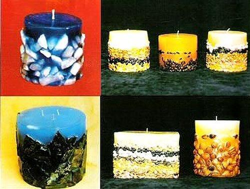 Как из обычной свечи сделать декоративную