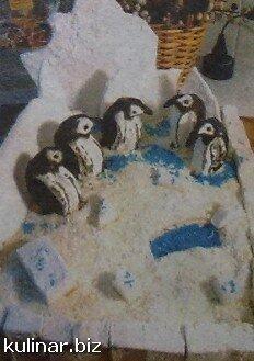 Торт «Пингвин на льдине»