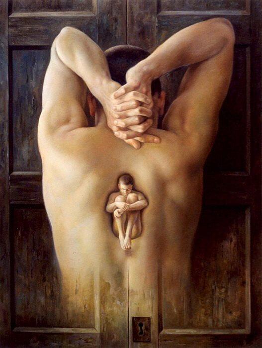Странный и изумительный лабиринт жизни. Художник Alberto Pancorbo Site