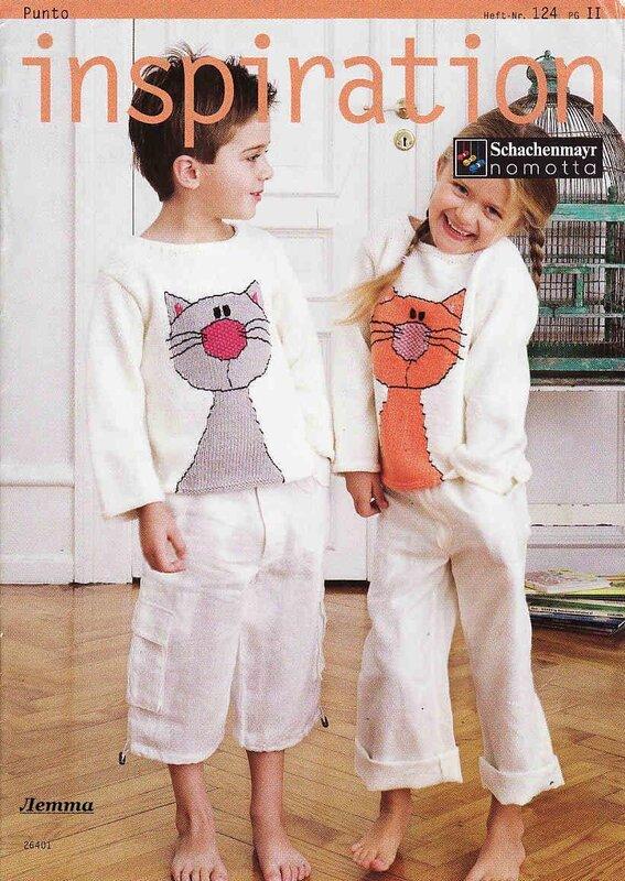 Вязание детский свитер с котиками