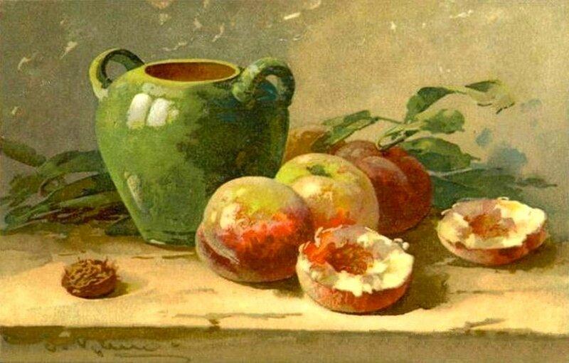 К. Кляйн.   Вазочка и персики.